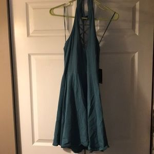 NEW WITH TAGS. Mini maxi teal dress from Express